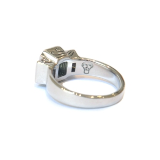 Carpe Diem, 2013, 18kt white gold, diamonds, party sapphire