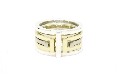 Australia, 2016. 9ct white gold, 9ct yellow gold, 925 silver