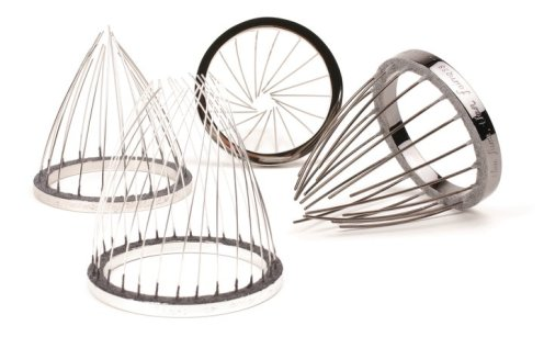 I believe, I choose, I live, I succeed? I learn, 2010, bangles/traps, stainless steel, plated copper, flocking.