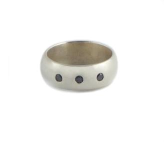 For my Dad, 2012, black diamonds, 925 silver