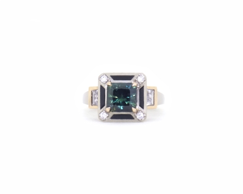 In Your Honour, 2017, 18ct white gold, 18ct rose gold, diamonds, parti sapphire, white sapphires, onyx