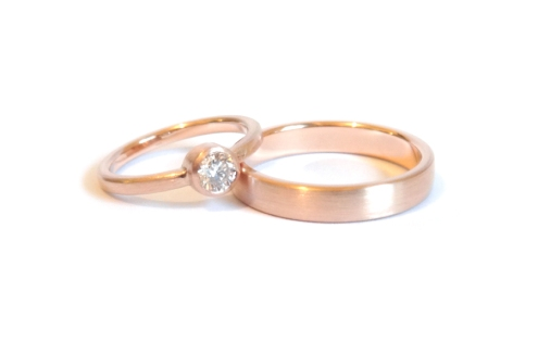 Many Firsts, 2014, 18ct rose gold, diamond