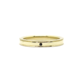 Little Details For A Big Love, 2015, 14kt yellow gold, black diamond