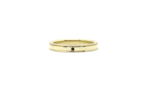 Little Details For A Big Love, 2015, 14ct yellow gold, black diamond