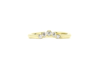 Little Champagne Fox Gets Married, 2016, 14kt yellow gold, diamonds