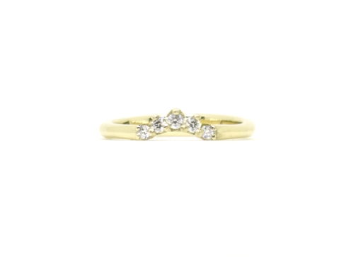 2016, 14ct yellow gold, diamonds