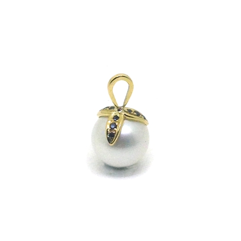 Family, 2017, 18kt yellow gold, black diamonds, South Sea pearl