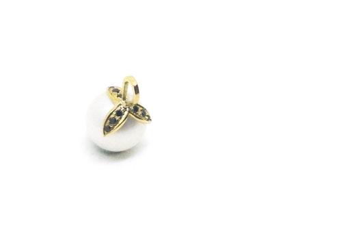 Family, 2017, 18kt yellow gold, black diamonds, South Sea pearl