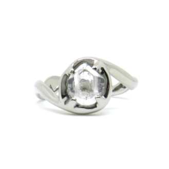 Nature's Beauty, 2016, 14kt white gold, Herkimer Diamond