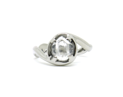 Nature's Beauty, 2016, 14ct white gold, Herkimer Diamond
