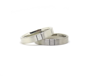 Equality, 2015, 9ct white gold, 18ct white gold, black rhodium