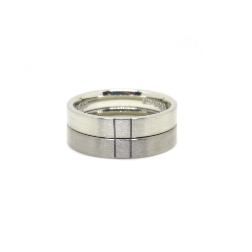 Equality, 2015, 9kt white gold, 18kt white gold, black rhodium