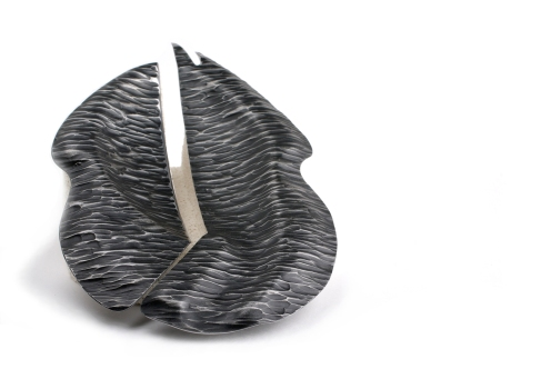 With Thy Hands I Eat, 2009, cutlery, blackened stainless steel