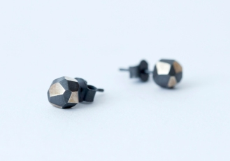 Oxidised Rock Studs, 925 silver. Available to purchase $165.00 AU