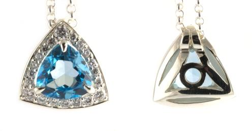 1 love 3 sons 20 years, 2012, blue topaz, diamonds, 925 silver