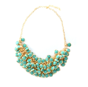 Mint-Bead-Statement-Necklace