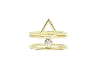 'She's So Fine', 2017, 14kt yellow gold, diamond