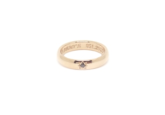 From First Dates To Forever Love, 2018, rose gold, black diamond, hand engraving